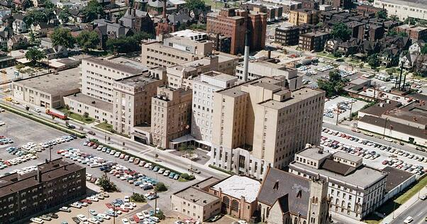 aerial view of Cleveland Clinic