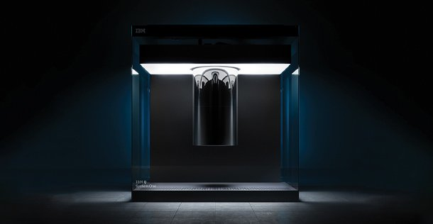 Styled image of a Accelerator in a dark room with lighting coming from the accelerator
