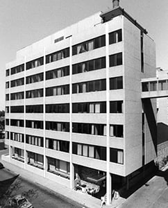 seven-story education building