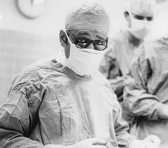 René Favaloro, MD in surgical garb
