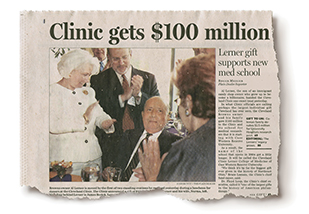 Newspaper clipping about clinic